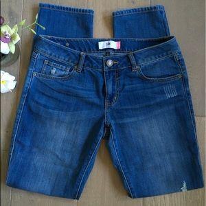CAbi Dark Washed Slim Boyfriend Jeans Size 6